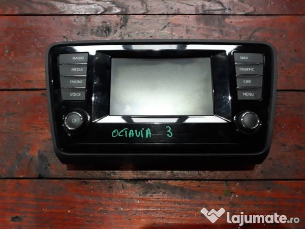 Ongekend Display navigatie Skoda Octavia 3 Sedan cod 5E0919605D, 1.250 ron EF-82