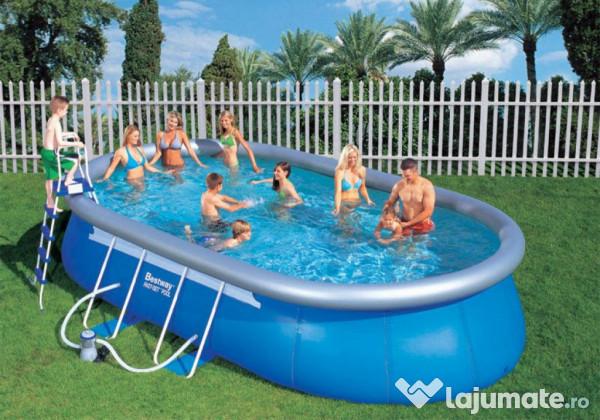 Piscina bestway steel pro 488x305x107 500 ron for Montaje piscina bestway