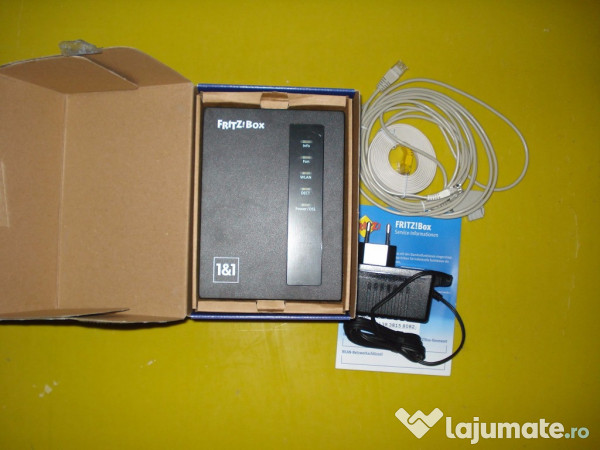 router fritzbox 7412 nou in cutie 90 ron. Black Bedroom Furniture Sets. Home Design Ideas