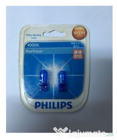 Philips LED W5W T10 Vision 11961ULW4X2 4000K warm white ...