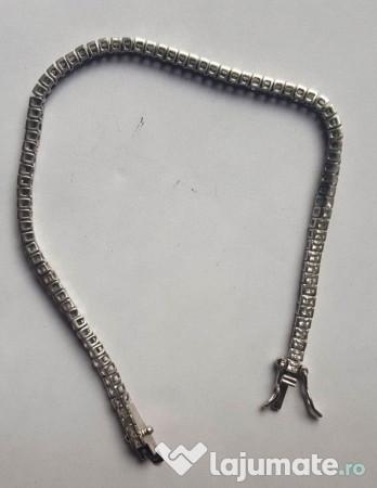 vânzare online reducere mare farmecul costurilor Bratara argint cu pietricele, lungime 19 cm, 90 lei - Lajumate.ro