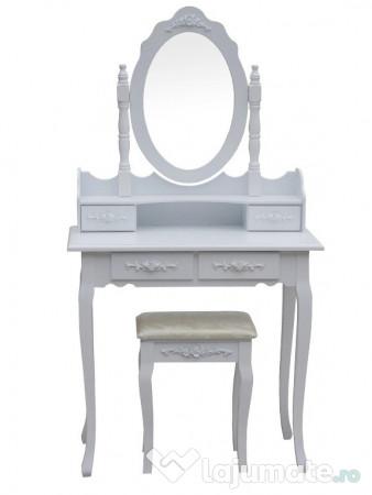 Masa Cosmetică Toaleta Machiaj Cu Oglindă și Scaun Nou 510 Ron
