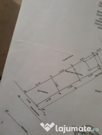 Vanzare  terenuri constructii  232 mp Arges, Golesti (Stefanesti)  - 8000 EURO