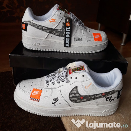 124fae25c56680 Nike Air Force 1 Low Just Do It White